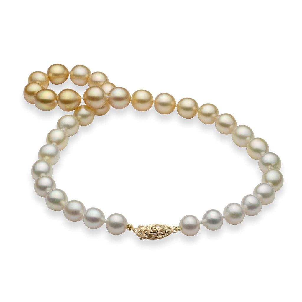 Mixed South Sea Pearl Strand in 14K Yellow Gold (9-12mm)-[SKU]