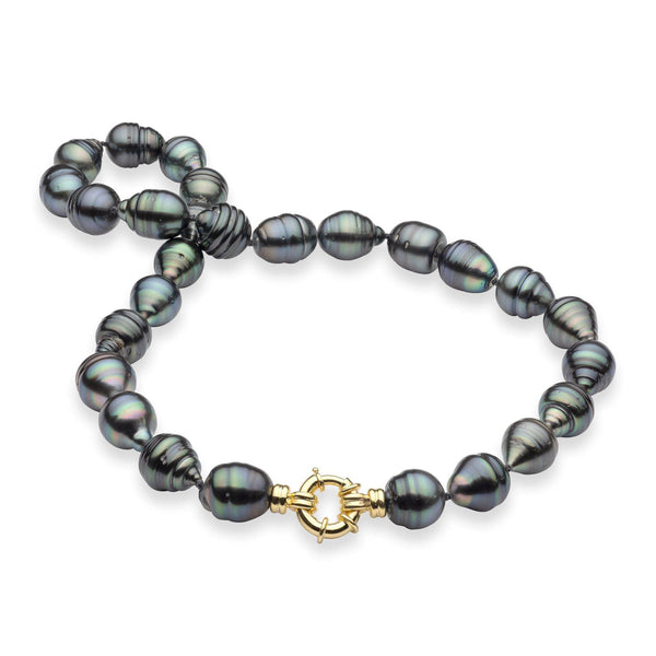 "20-21"" Tahitian Black Pearl Strand in Gold-Maui Divers Jewelry"