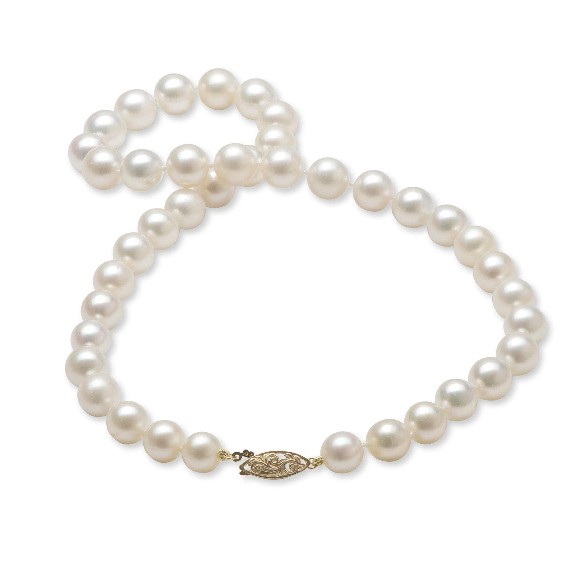 South Sea White Pearl (9-11mm) Strand in 14K Yellow Gold
