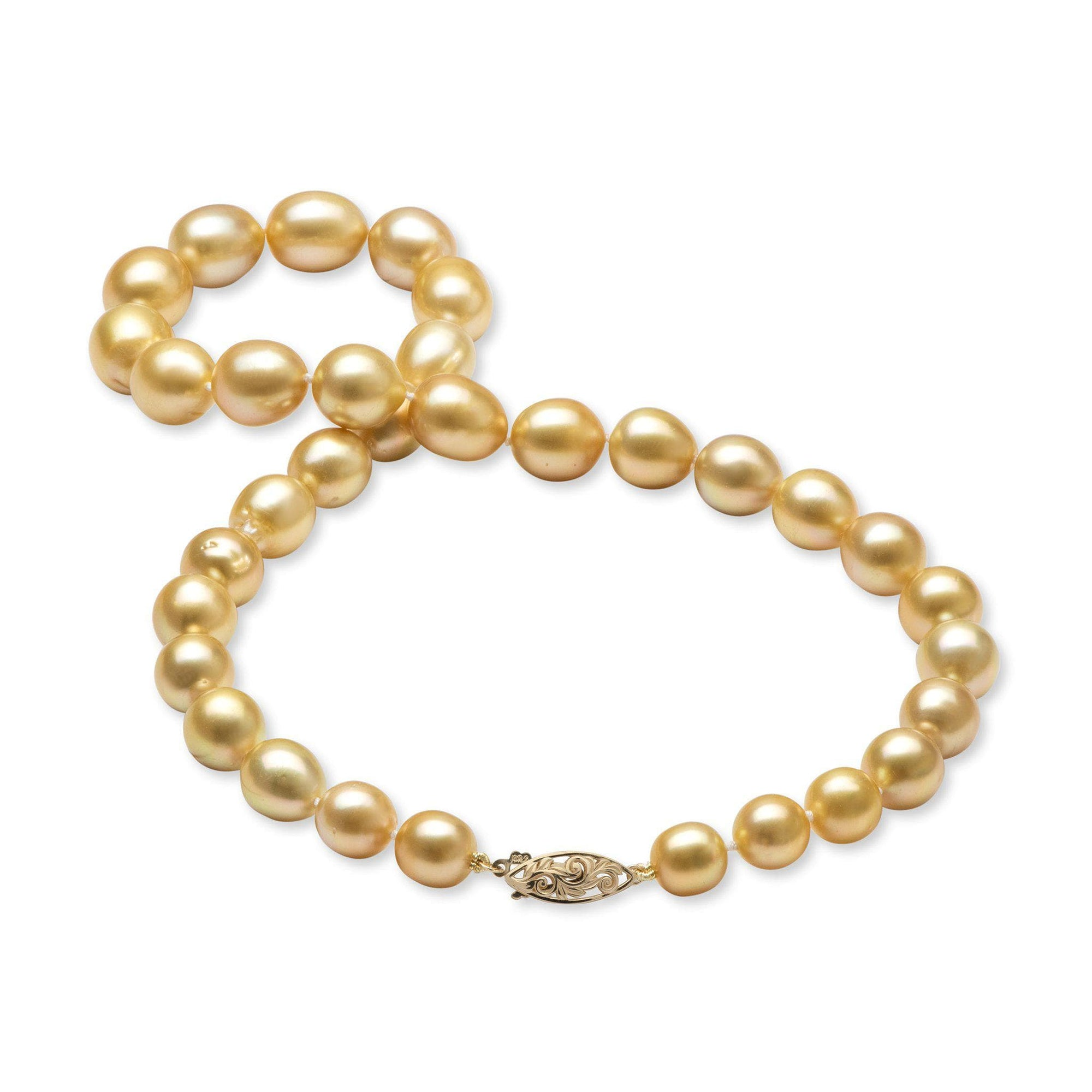 Living Heirloom South Sea Pearl Strand in 14K Yellow Gold