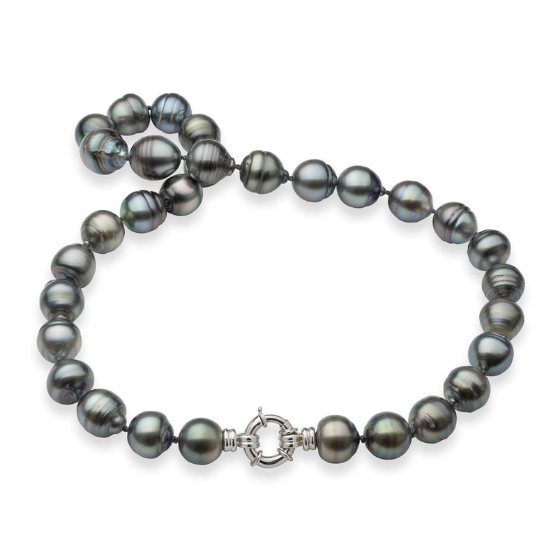 Tahitian Black Pearl Strand in 14K White Gold