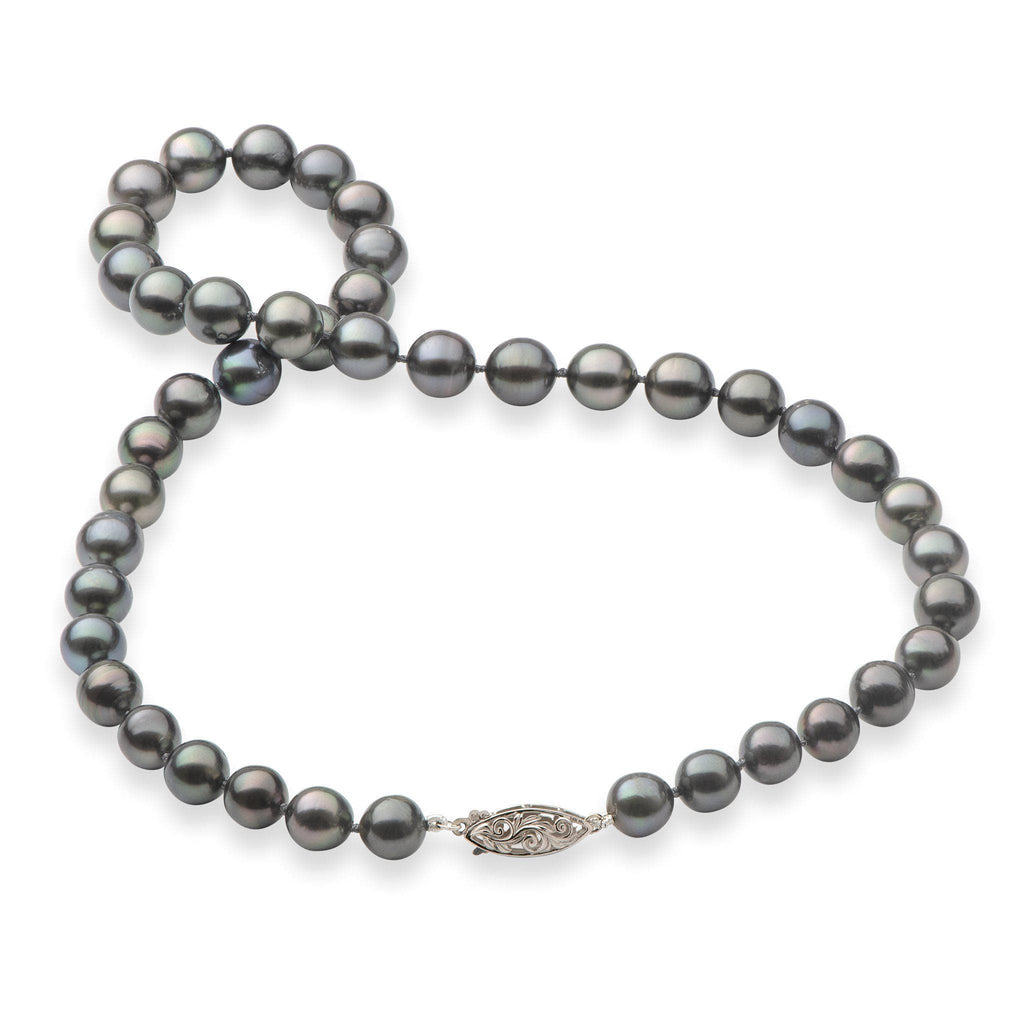 Tahitian Black Pearl (8-11mm) Strand in 14 Yellow Gold