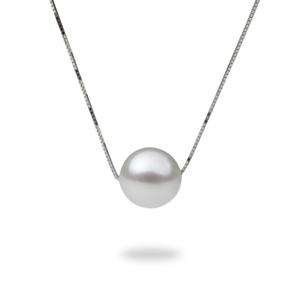 South Sea Pearl (9-10mm) Necklace in 14K White Gold 006-15237