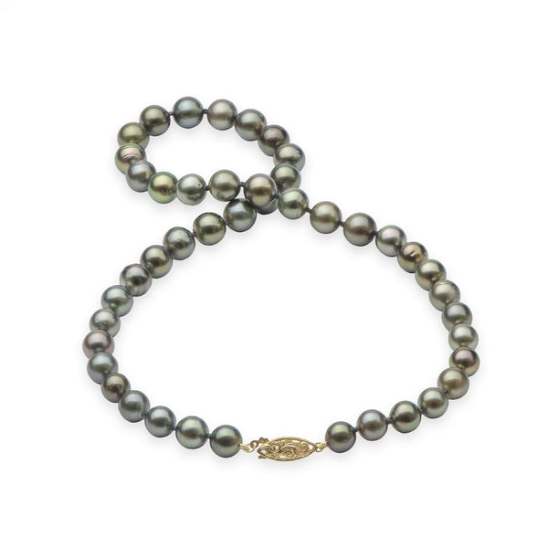 "18-19"" Tahitian Black Pearl Strand in Gold-Maui Divers Jewelry"