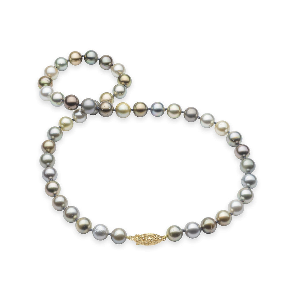 Living Heirloom Tahitian Black Pearl Strand in 14K Yellow Gold - Maui Divers Jewelry