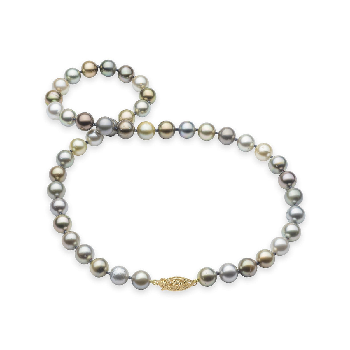 Living Heirloom Tahitian Black Pearl Strand in 14K Yellow Gold