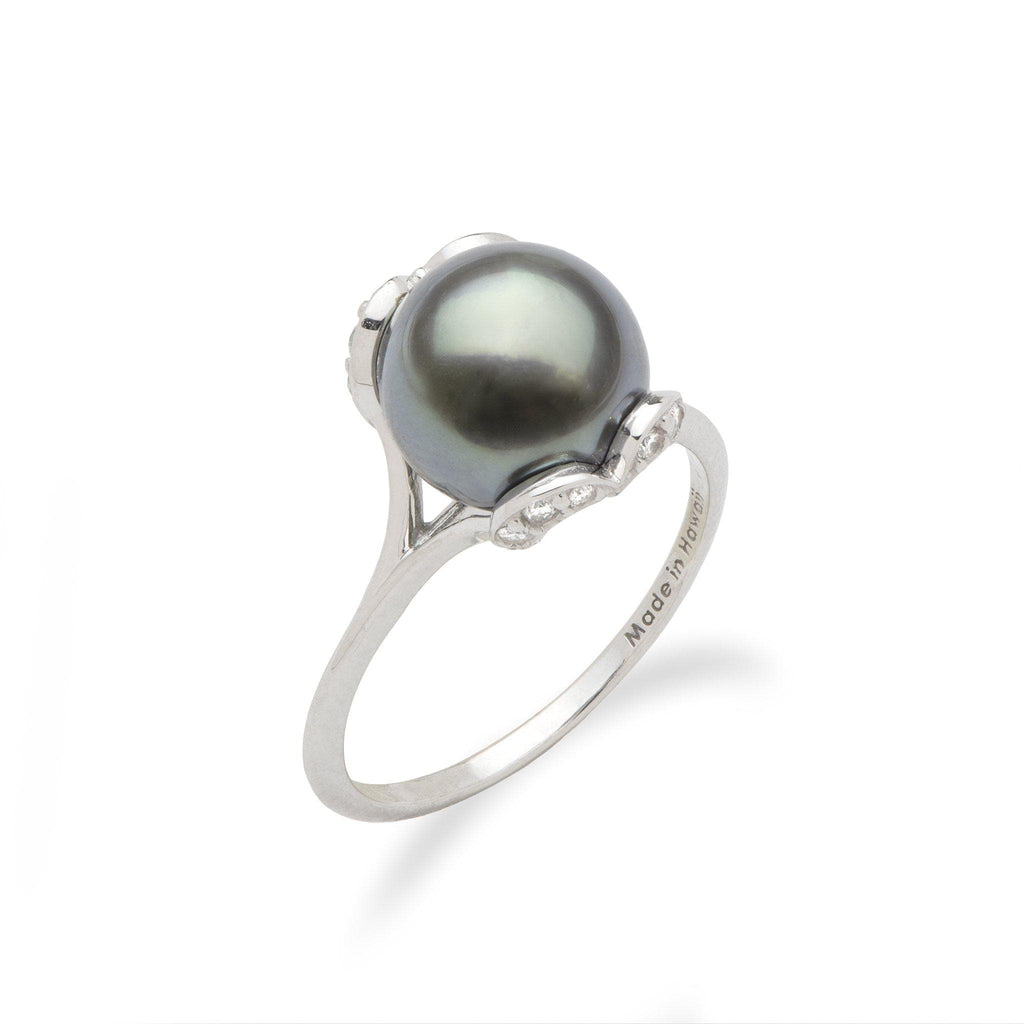 Tahitian Black Pearl Ring 006-15276