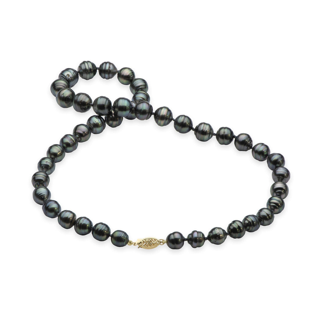 Tahitian Black Pearl Strand in 14K Yellow Gold (7-13mm) - Maui Divers Jewelry