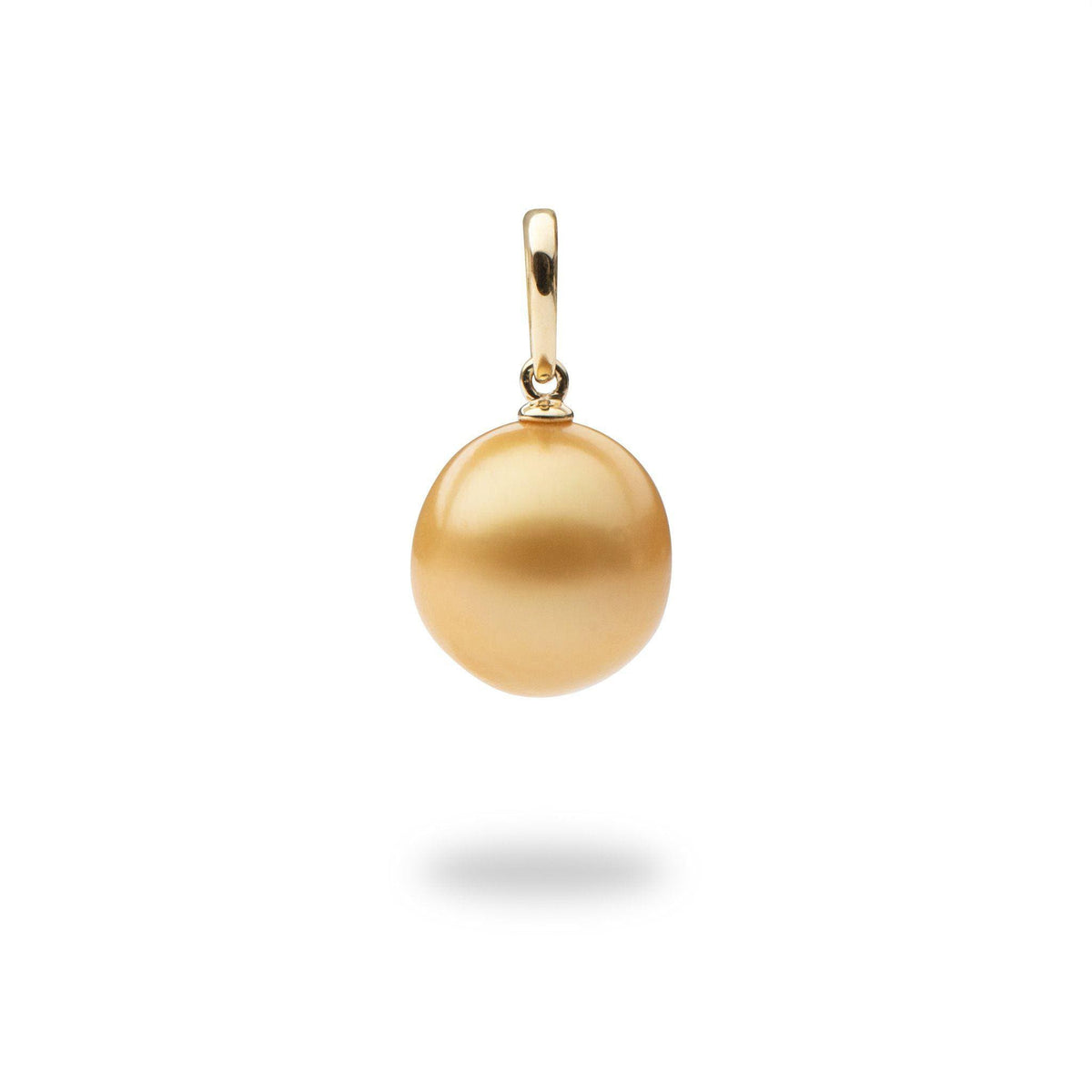 South Sea Dark Gold Pearl Pendant in 14K Yellow Gold (12-13mm)