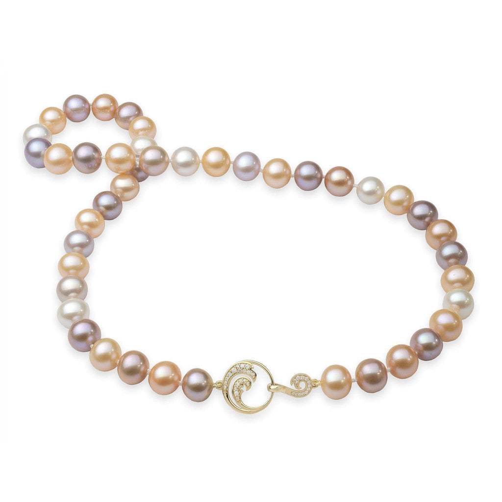 Nalu Multi-Color Freshwater Pearl Strand (9-10mm)-[SKU]