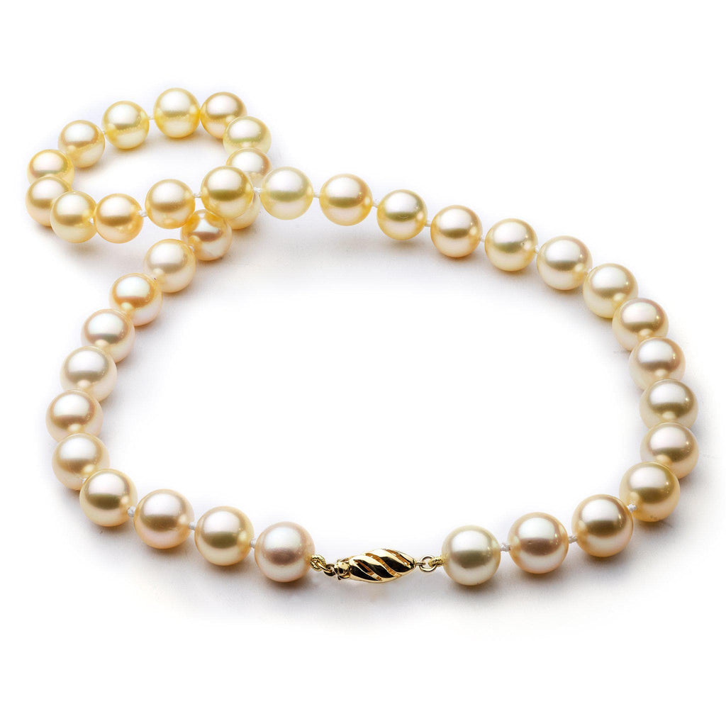 "19"" South Sea Pearl Strand in 14K Yellow Gold (8-11mm)-[SKU]"