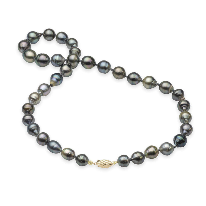 "17-19"" Tahitian Black Pearl Strand in Gold-Maui Divers Jewelry"