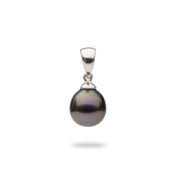 Details about  /12mm Tahitian Black Pearl 925 Sterling Silver Pendant /& Chain Set
