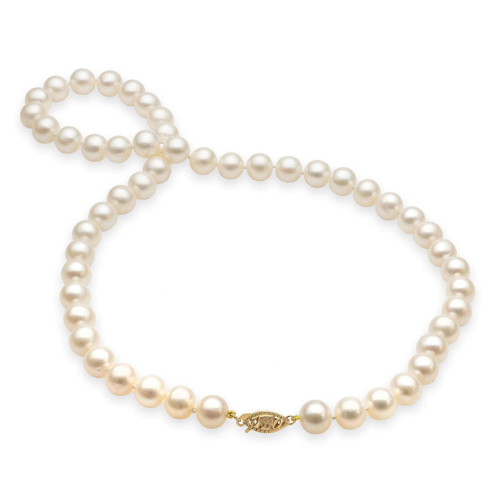 Freshwater Pearl Strand in 14K Yellow Gold (8mm)