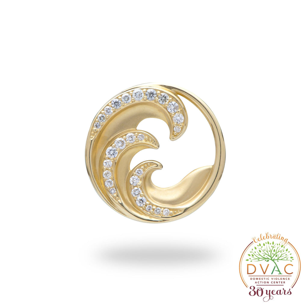 DVAC - Nalu Pendant in Gold with Diamonds - 22mm-[SKU]