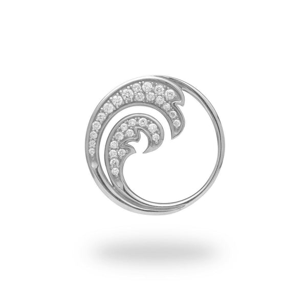 Nalu Pendant in white Gold with Diamonds - 26mm