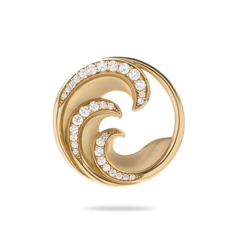 Nalu Pendant in Gold with Diamonds - 26mm-[SKU]