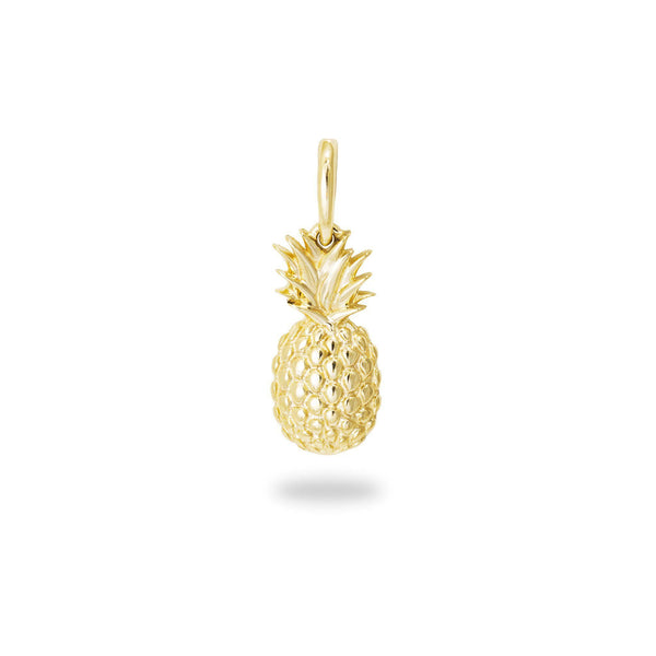 Pineapple Pendant in 14K Yellow Gold 15mm-[SKU]