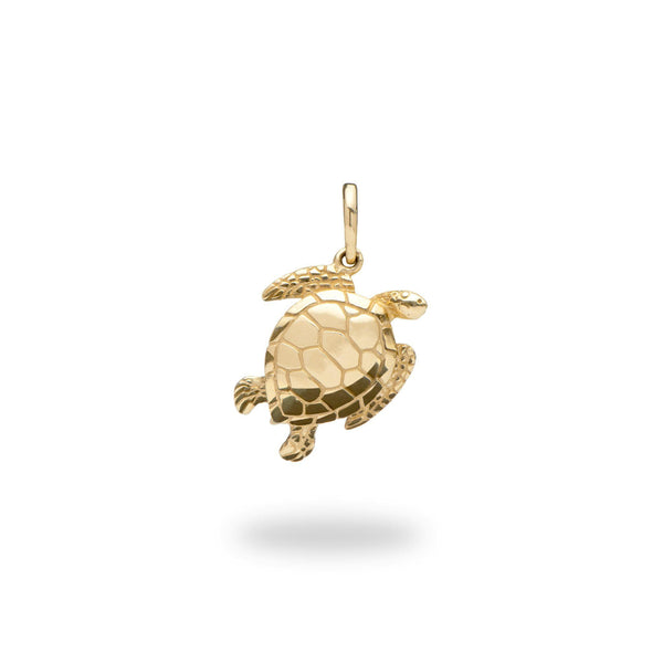 Honu Pendant in Gold - 18mm-[SKU]