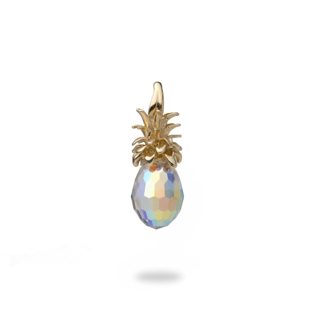 Crystal Pineapple Pendant in 14K Yellow Gold - Small-[SKU]