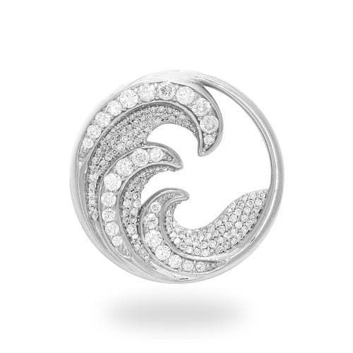 Nalu Pendant with Diamonds in 14K White Gold - 26mm 011-01643