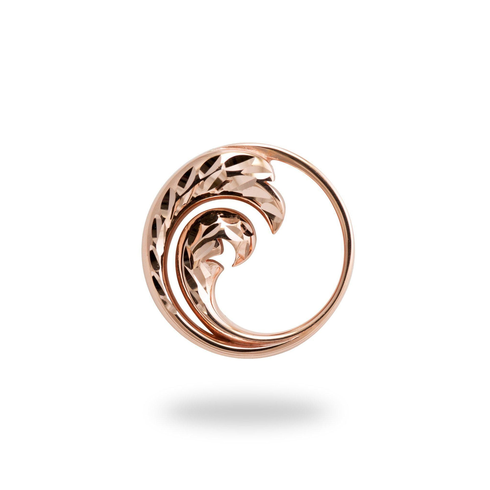 rose gold wave pendant