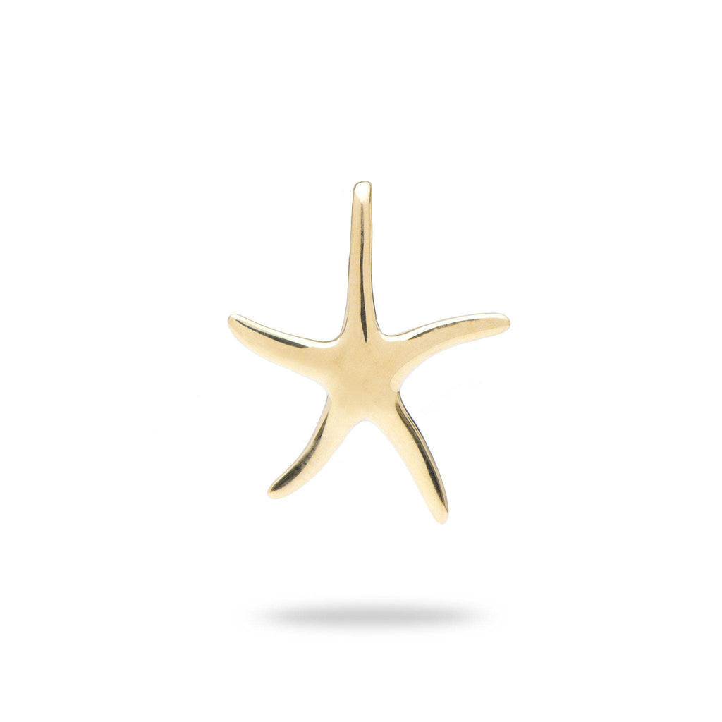Starfish Pendant in 14K Yellow Gold (17mm) - Maui Divers Jewelry