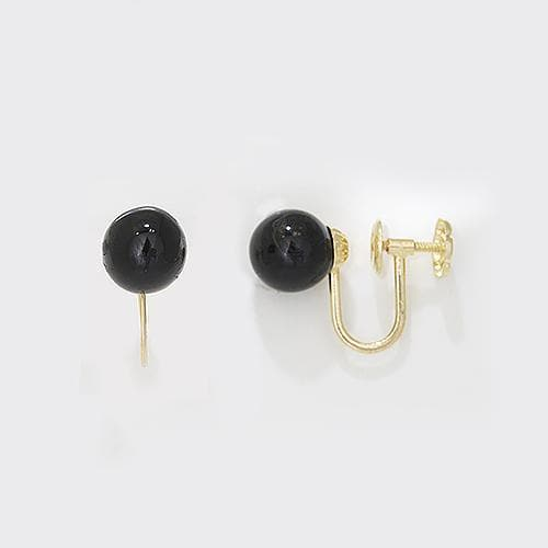 7a8d59562 Hawaiian Black Coral Non- Pierced Earrings in 14K Yellow Gold (7.5-8mm)