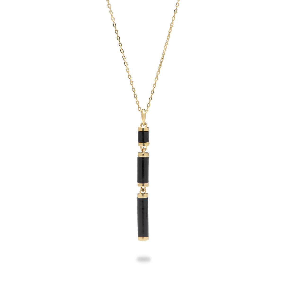 Ocean Chimes Station Necklace in 14K Yellow Gold