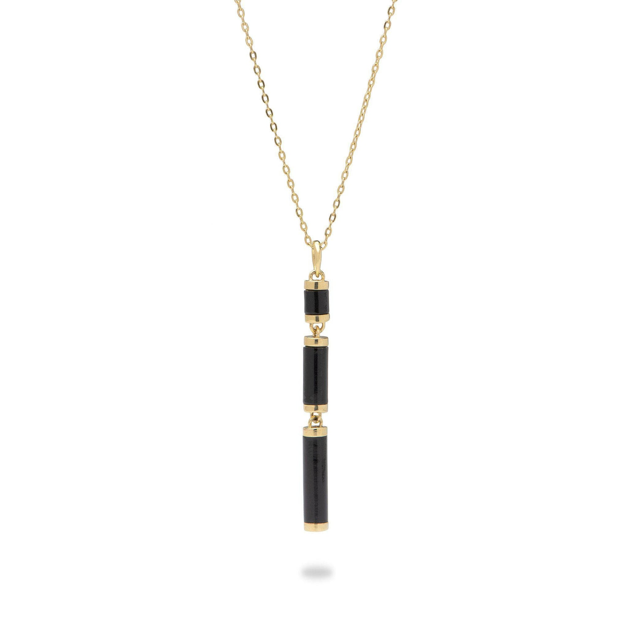 Ocean Chimes Station Necklace in 14K Yellow Gold-[SKU]