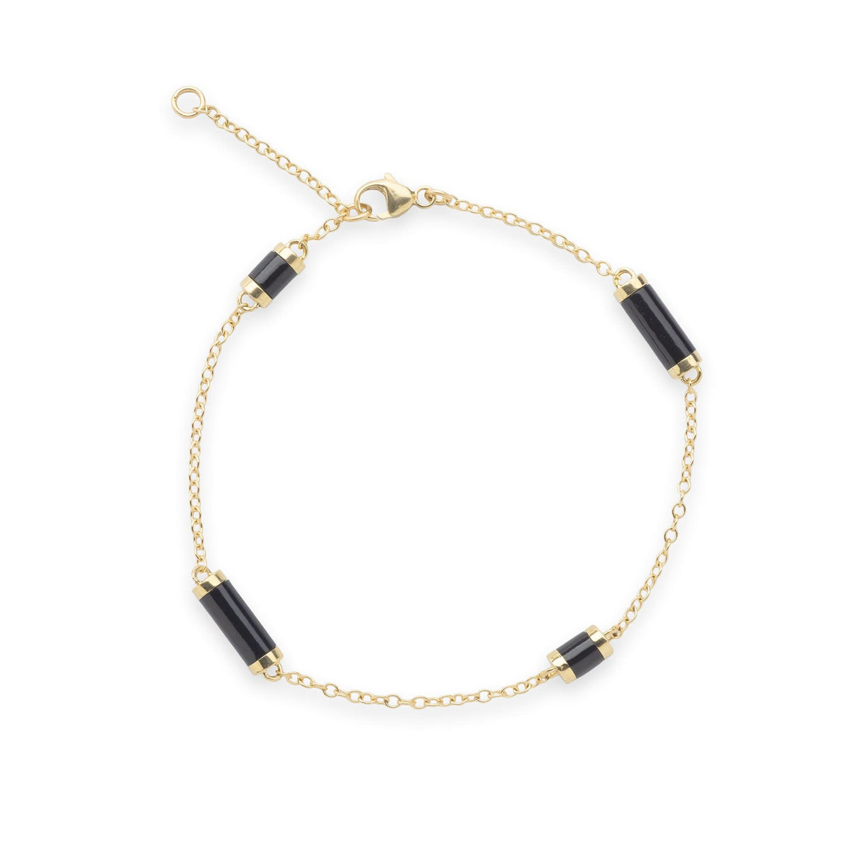 Ocean Chimes Station Bracelet in 14K Yellow Gold