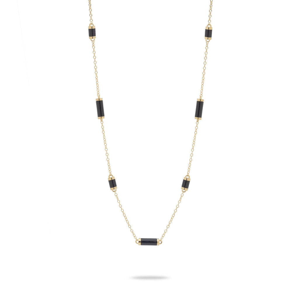 Ocean Chimes Station Necklace in 14K Yellow Gold - Maui Divers Jewelry