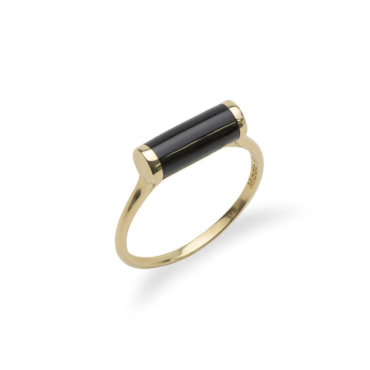 Ocean Chimes Cylinder Ring in 14K Yellow Gold - Maui Divers Jewelry