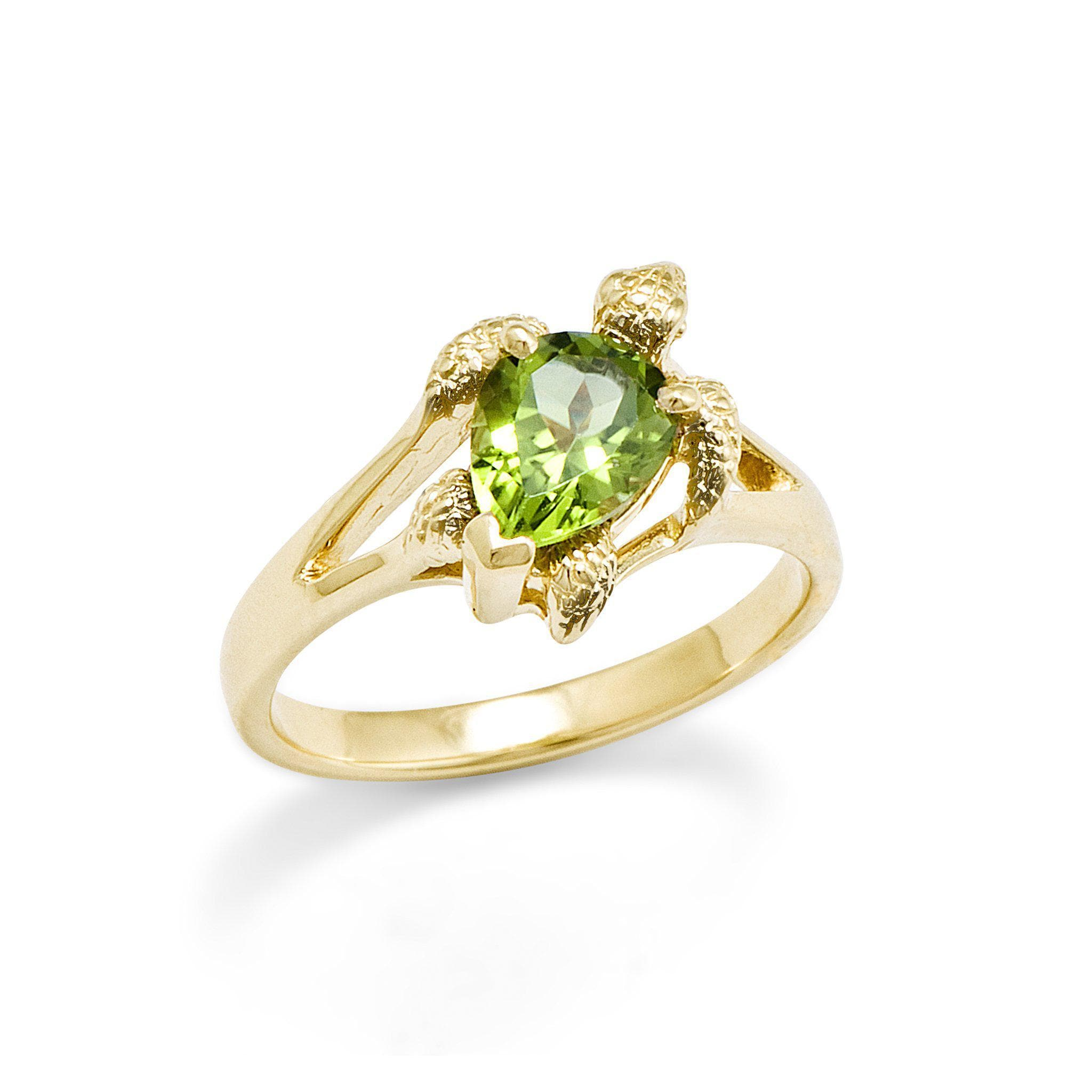 karat yellow wedding product peridot gold owned ring pre rings diamond