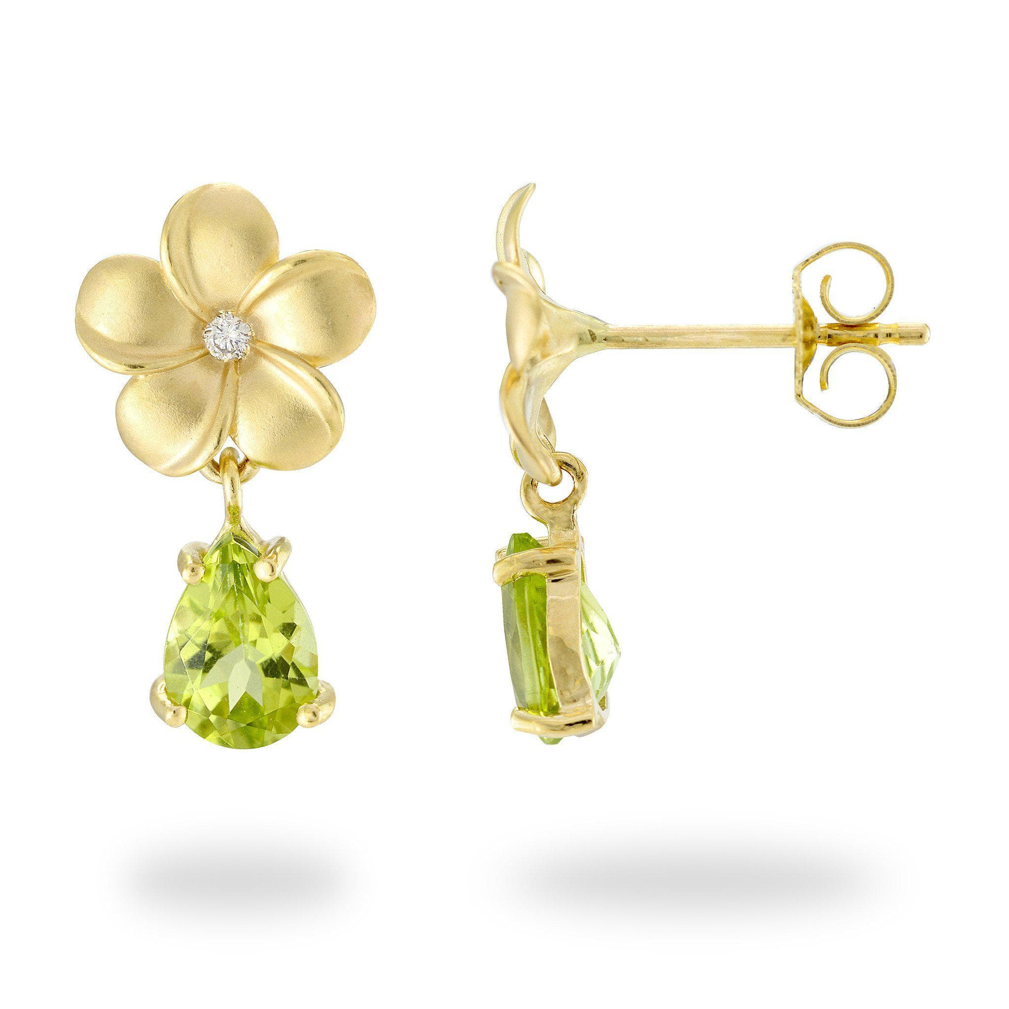 gold earrings peridot jewellers rio stone bishop yellow winsor single