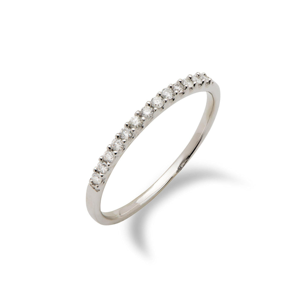 Diamond Anniversary Ring in the 14K White Gold