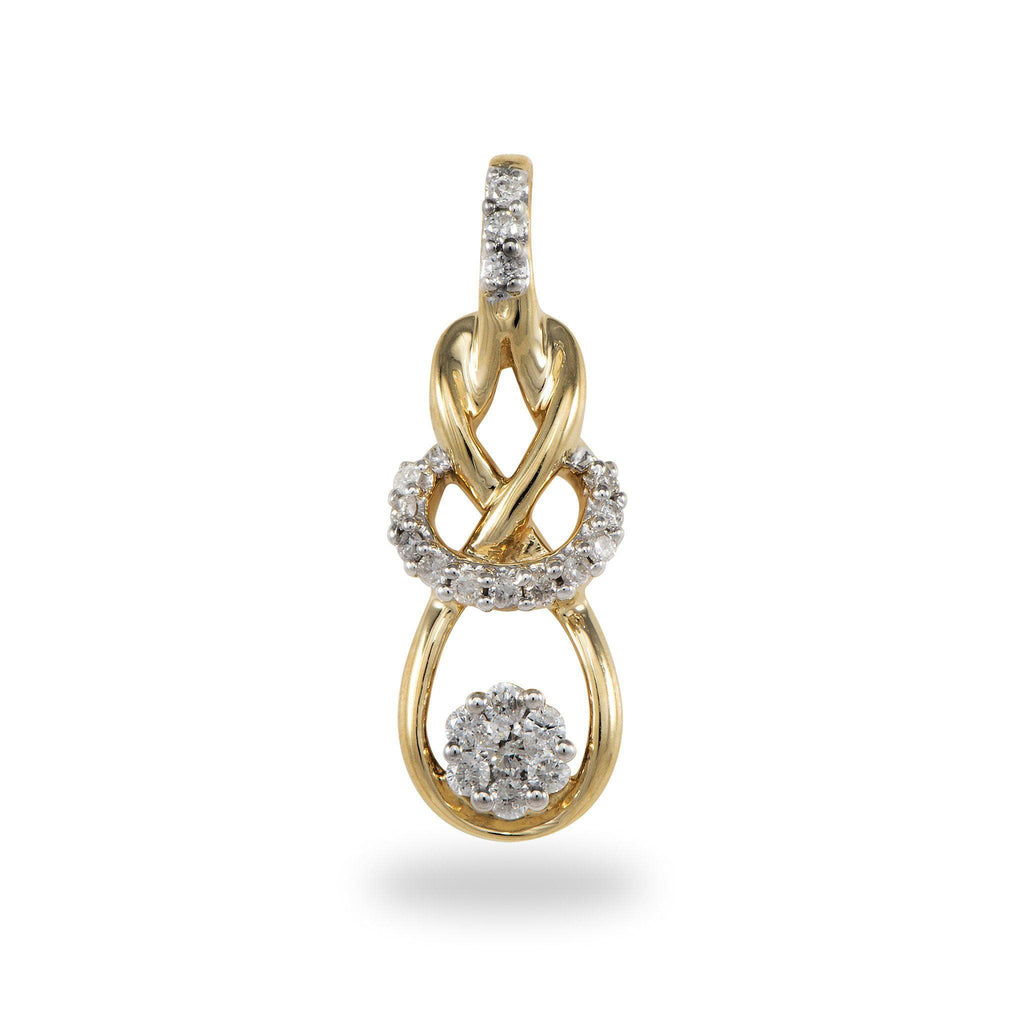 Diamond Pendant in 14K Yellow and White Gold
