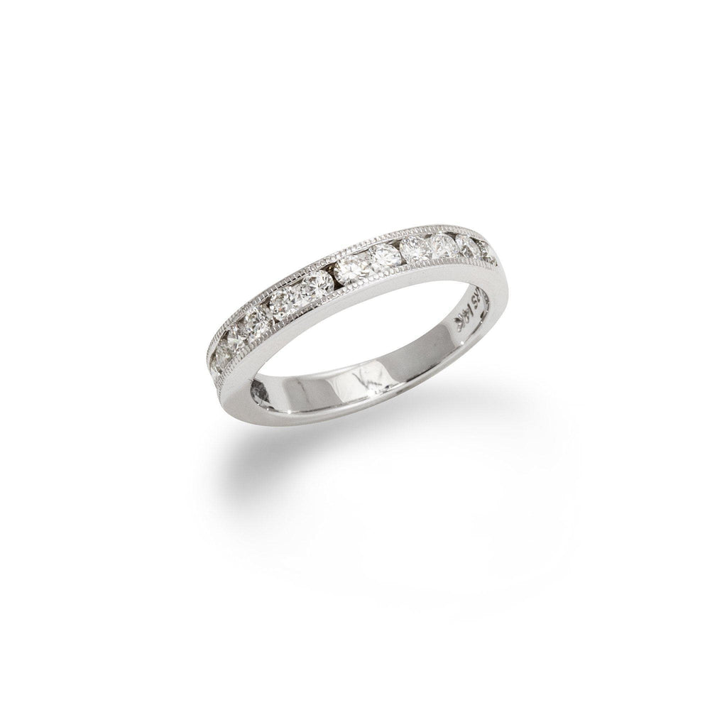 Anniversary Diamond Ring in 14K White Gold-[SKU]