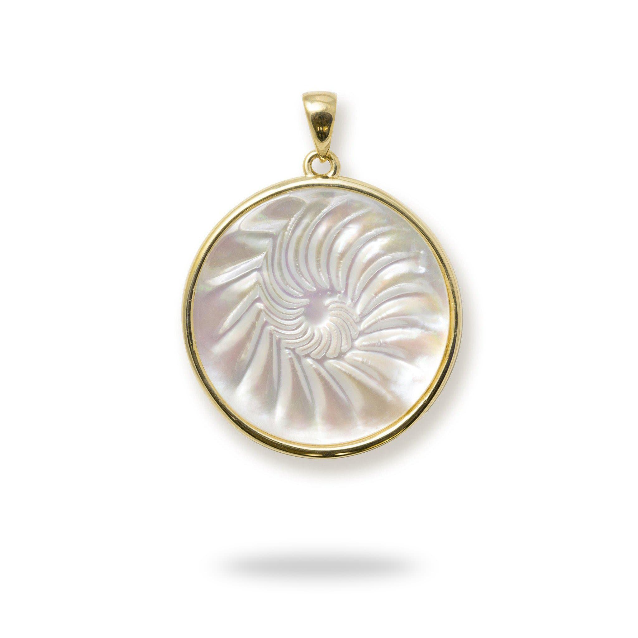 Nautilus mother of pearl pendant in 14k yellow gold 22mm nautilus mother of pearl pendant in 14k yellow gold 22mm 031 00230nautilus mother of aloadofball Choice Image