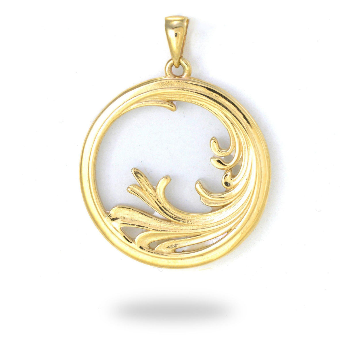 Nalu Splash Mother of Pearl Pendant in Gold - 27mm