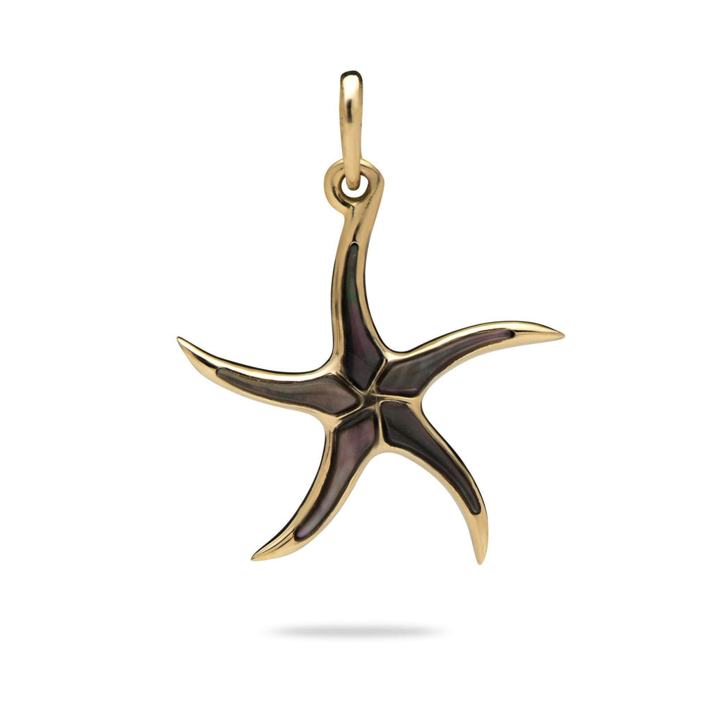 Starfish Pendant with Mother of Pearl in 14K Yellow Gold-[SKU]