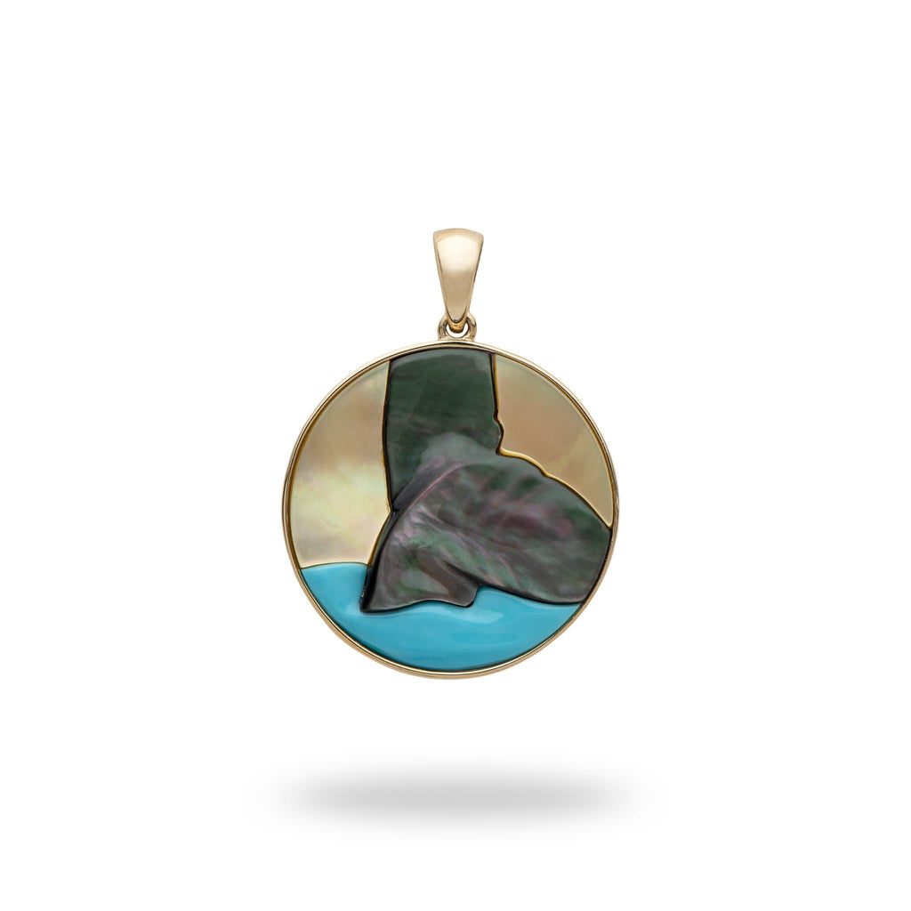 Hawaiian Moments Pendant with Mother of Pearl in 14K Yellow Gold - Maui Divers Jewelry
