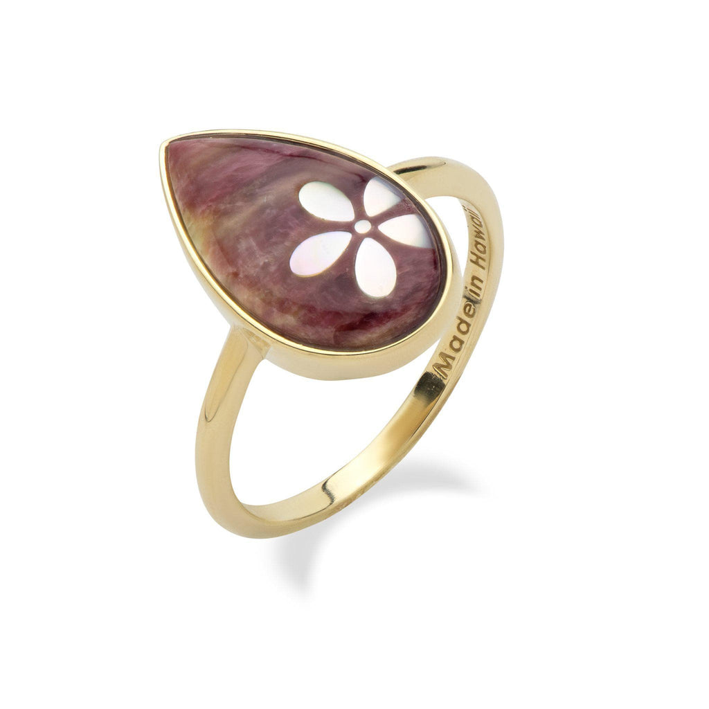 Purple floral ring