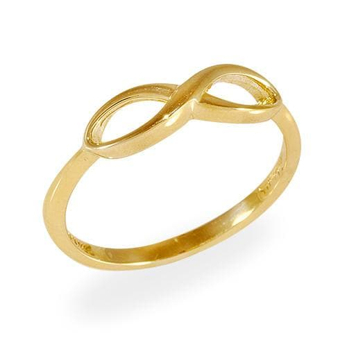 Infinity Ring in 14K Yellow Gold - Size 7