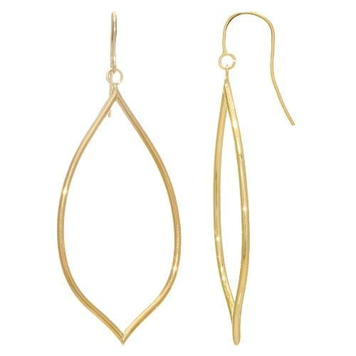 Tear Drop Earrings in 14K Yellow Gold