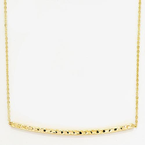 Horizontal Bar Necklace in 14K Yellow Gold