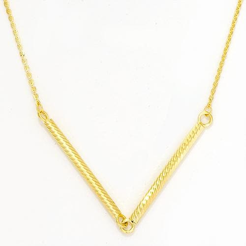Tube Necklace in 14K Yellow Gold
