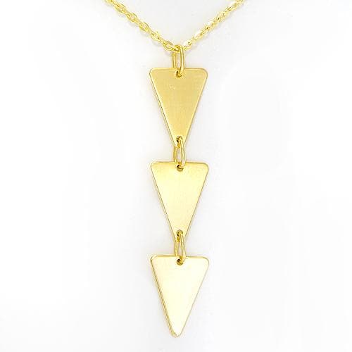 Three Triangle Necklace in 14K Yellow Gold