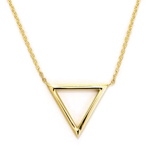 Triangle Necklace in 14K Yellow Gold