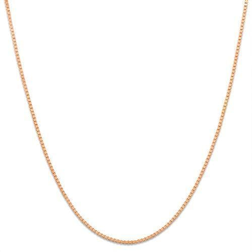 "16"" 0.45mm Box Chain in 10K Rose Gold - Maui Divers Jewelry"